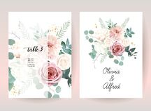 Free Silver Sage Green And Blush Pink Flowers Vector Design Frames Stock Image - 179643711
