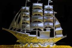 Silver sailing Stock Image