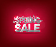 Silver sale poster design Stock Photography