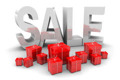 Silver Sale and Presents Stock Images