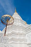 Silver Sanctuary, Gable apex in temple roof Royalty Free Stock Photo