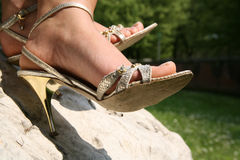 Free Silver Sandals Royalty Free Stock Image - 5461276