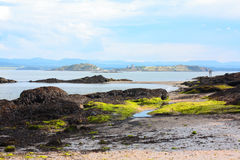 Silver Sands. Aberdour, Fife, Scotland, scottish seashore Stock Image