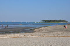 Silver Sands State Park in Milford, Connecticut stock photography