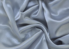Silver Satin Stock Photo