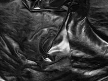 Silver satin fabric Stock Photo