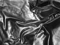 Silver satin fabric Royalty Free Stock Photography