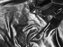 Silver satin fabric Royalty Free Stock Image