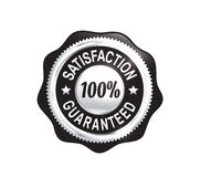 Silver Satisfaction Guaranteed Badge Stock Photos