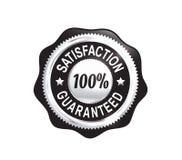 Silver Satisfaction Guaranteed Badge Stock Photos