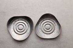 Silver saucer Stock Photo
