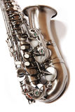 Silver saxophone Stock Image