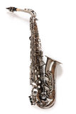 Silver saxophone Stock Photo