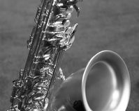 Silver Saxophone II Royalty Free Stock Photo