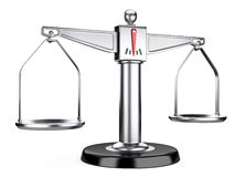 Silver scales of justice or a medical scales Royalty Free Stock Image