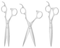 Silver scissors hairdresser Royalty Free Stock Photography