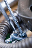 Silver screws Stock Photography
