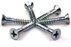 Silver screws Royalty Free Stock Images