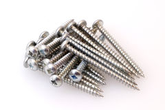 Silver screws Stock Photos