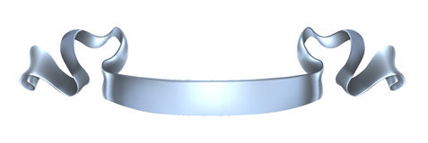Silver scroll banner. A silver metal banner scroll design Royalty Free Stock Image