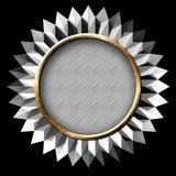 Silver Seal Starburst Stock Images