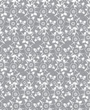 Silver seamless abstract flower background Royalty Free Stock Photography