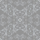 Silver seamless floral pattern. Vector silver floral seamless pattern Royalty Free Stock Images