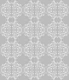 Silver seamless floral pattern. Vector seamless floral vintage pattern Stock Photography
