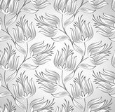 Silver seamless flower wallpaper Royalty Free Stock Photos