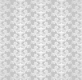 Silver seamless victorian style floral wallpaper Royalty Free Stock Photo