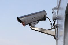 Silver Security Camera stock images