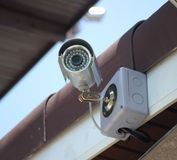 Silver security Camera or CCTV Royalty Free Stock Photo