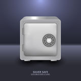 Silver security safe with combination lock Royalty Free Stock Photography
