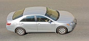 Silver sedan car Stock Image