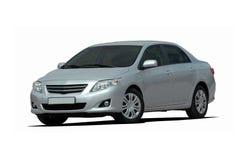Silver sedan Royalty Free Stock Image