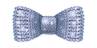 Silver sequins bow tie. Stock Image