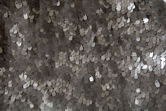 Silver sequins pattern Royalty Free Stock Photo