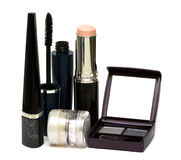 Silver set for make-up Royalty Free Stock Image