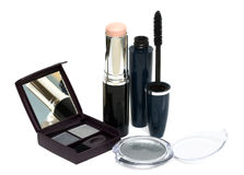 Silver set for make-up Stock Photography