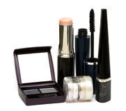 Silver set for make-up Royalty Free Stock Photography