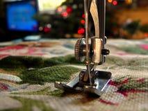 Silver Sewing Machine Stock Photo