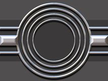 Silver shape. Silver / chrome silver shape illustration with circles Royalty Free Stock Images