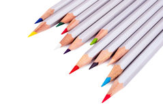 Silver shell pencils. Royalty Free Stock Images