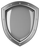 Silver shield. Royalty Free Stock Images