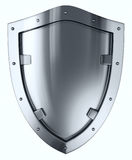 Silver shield. Royalty Free Stock Photography