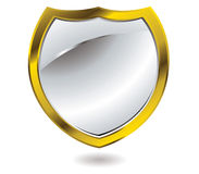Silver shield Stock Photography