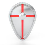 Silver shield, 3D Royalty Free Stock Photo