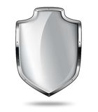 Silver shield with shadow Stock Photos