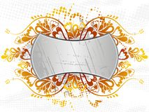 Silver shield, vector Royalty Free Stock Images