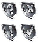 Silver Shields Stock Image